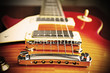 electric guitar bridge in vintage effect