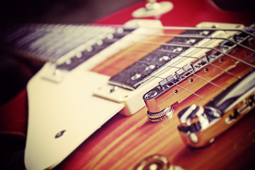 guitar bridge in vintage effect