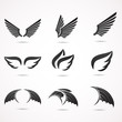 Wing vector icon set. - 77817286
