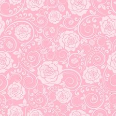 Pink ornament of roses