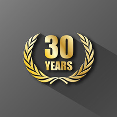 30 YEAR ANNIVERSARY Icon (twenty years wreath prize birthday)