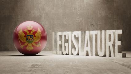 Montenegro. Legislature Concept.