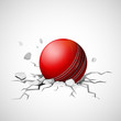 Cricket ball falling on ground making crack - 77817875