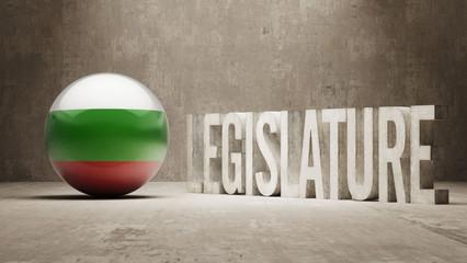 Bulgaria. Legislature Concept.
