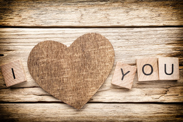Wood heart.