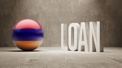 Armenia. Loan Concept.
