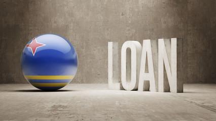 Aruba. Loan Concept.