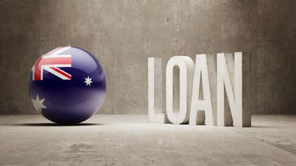 Australia. Loan Concept.