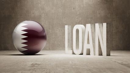 Qatar. Loan Concept.