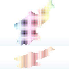 Map of Democratic People's Republic of Korea, North Korea with w