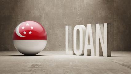 Singapore Loan Concept.