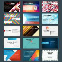 Vector set of modern creative business cards
