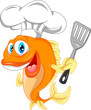 fish chef cartoon - 77821280