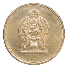 Sri Lanka rupee coin