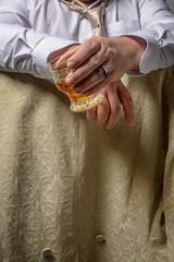 Man Drinking Spirits