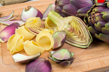 pasta with artichokes