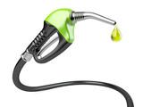 Green fuel pump nozzle with drop oil. - 77822896