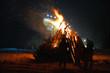 Feuer lagerfeuer Nacht Winter - 77823061
