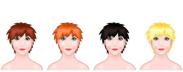 beautiful girls with short hair