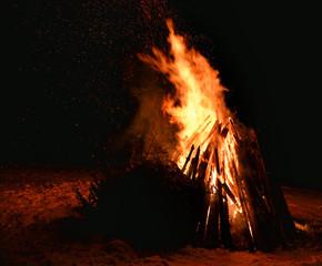 Feuer lagerfeuer Nacht Winter