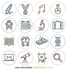Education & learning line icons