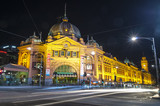 Flinders station view from flinders street Melbourne Australia