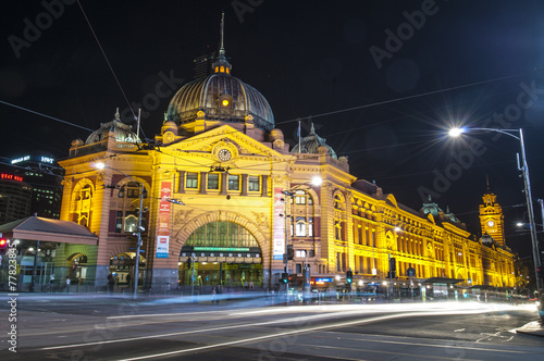 Foto op Canvas Australië Flinders station view from flinders street Melbourne Australia