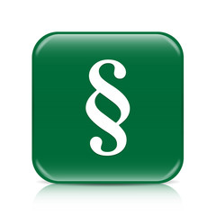 Green paragraph button icon with reflection