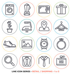Home appliances and personal care symbols