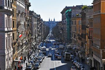 Roma, Via Merulana da Piazza Santa Maria Maggiore