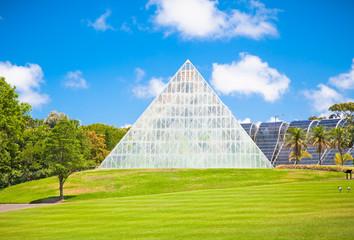 Pyramid at  Royal Botanic Gardens in Sydney, Australia.