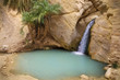Waterfall in mountain oasis Chebika, Tunisia, Africa
