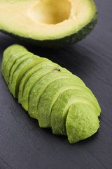 ripe cleaned peeled avocado sliced