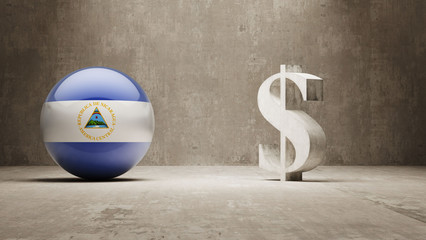 Nicaragua. Money Sign Concept.