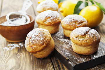 Homemade lemon muffins