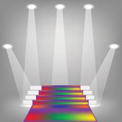 colored carpet