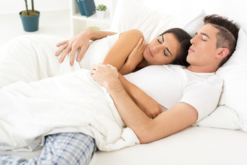 Sleeping Couple In Love