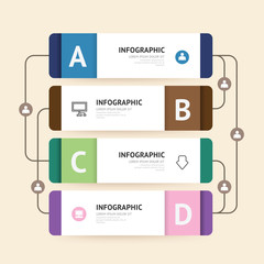 Modern infographic banner with line design template. vector illu
