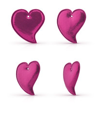 Love heart shape toy isolated on white with clipping path