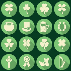 vector set of irish St. Patrick's Day icons