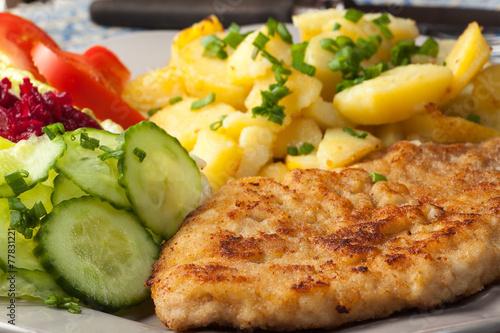 Fried pork chop. - 77831221