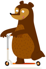 ours en trottinette