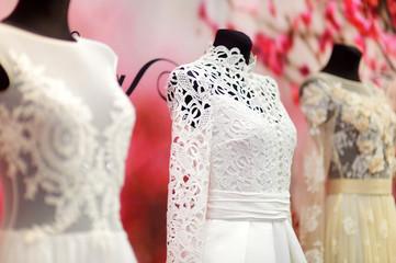 Wedding dresses on a mannequins