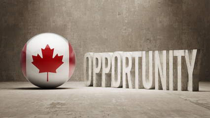 Canada. Opportunity Concept.