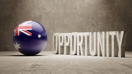 Australia. Opportunity Concept.