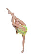 girl dancer or gymnast pose