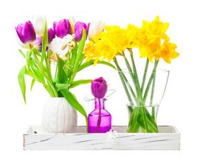 Osterglocken, Tulpen, Osterdekoration