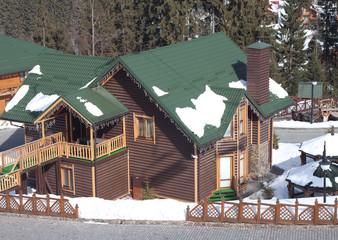 Log house in the ski resort