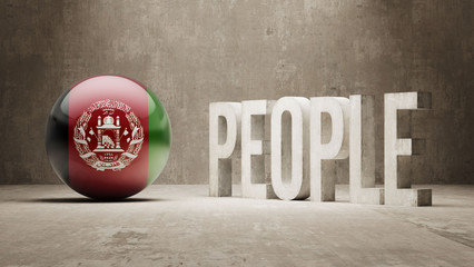 Afghanistan. People Concept.