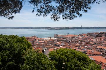 Vue depuis le Chateau sur Lisbonne
